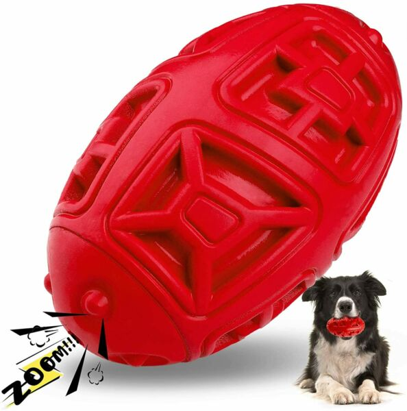 Squeaky Dog Toys for Aggressive ChewersIndestructible Dog Chew Toy Rubber Ball $9.89