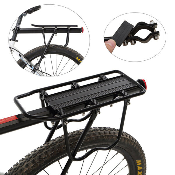 Bicycle Rear Rack Cargo Rack Quick Release Alloy Carrier 110 Lb Capacity $15.99