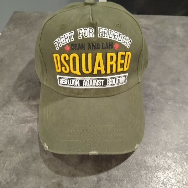 DSQUARED 2 Fight for Freedom Distressed cotton Shadow Dancer New cap hat ICON $32.03