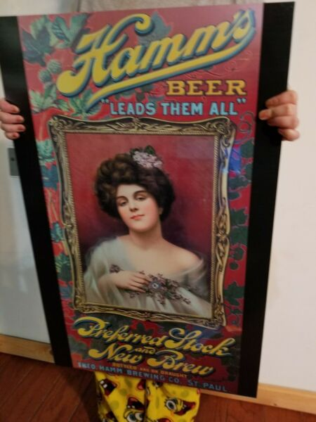Rare Hamms Beer Bar Vintage style Beer Sign