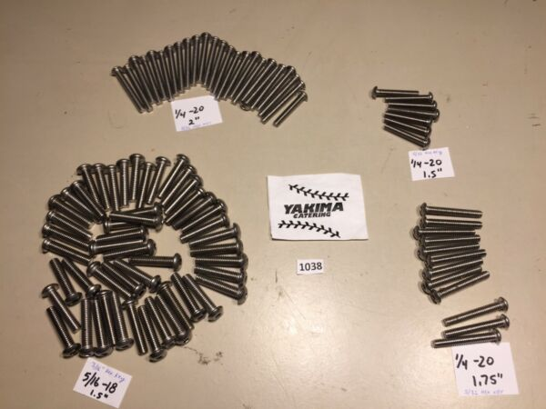 Yakima roof rack hex bolts 5 16 20 amp; 1 4 20. One lot is four bolts. {BIN C}. $2.99