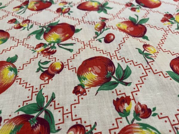 Vintage Betsey Johnson Fabric Sample Sale One Of Kind Orange Rose On Black