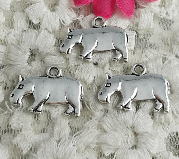 Free Ship 43 pcs Antique silver cattle charms 21x15mm H 4090 $5.99