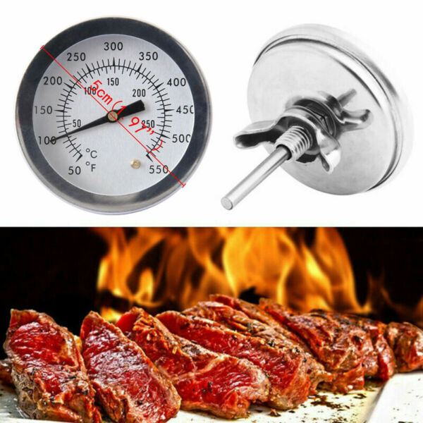 50 550 Cooking BBQ Smoker Grill Thermometer Stainless Steel Temperature Gauge US