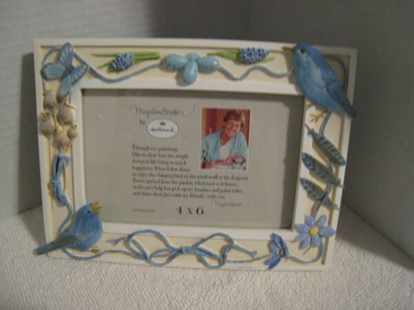 MARJOLEIN BASTIN PHOTO FRAME INDIGO BUNTING BEAUTIFUL NEW