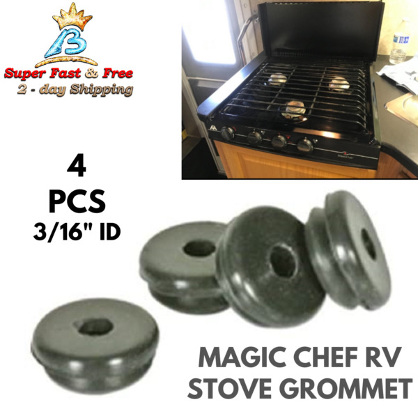 RV Camper Stovetop Protector Grommet Feet For Magic Chef Stove Grates 4 Pack NEW