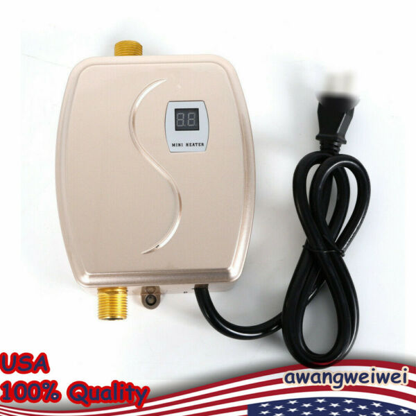 3KW Mini Tankless Instant Water Heater Electric Kitchen Hot Water Boiler 110V US $53.01