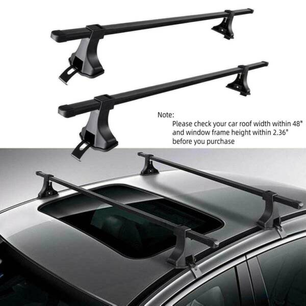 Universal 48quot; Car Top Roof Rack Cross Bar Luggage Cargo Carrier Rack SUV $51.67