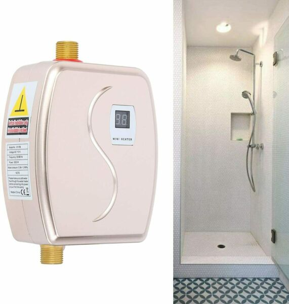 3000W Instant Electric Tankless Hot Water Heater Shower Kitchen Bathroom 110V $50.89