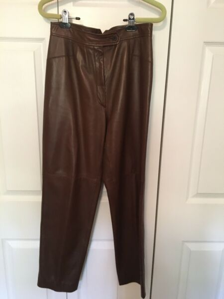 Authentic Burberry Women's Leather Pants. $100.00