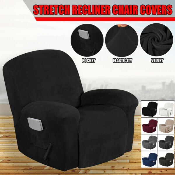Stretch Slipcover Sofa Covers Recliner Furniture Couch Armchair Pad Detachable $25.93