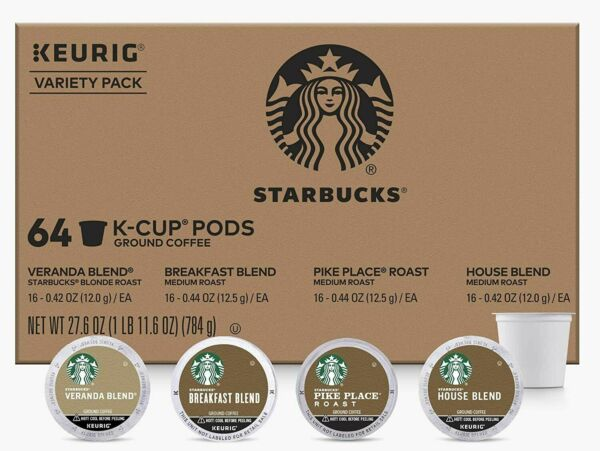 Starbucks K Cups Coffee Pods Variety Pack for Keurig Brewers 64 Pods EXP 12 20