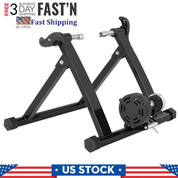 Bike Trainer Stand Magnetic Bicycle Stationary Stand For Indoor Cycling Exercise $84.99