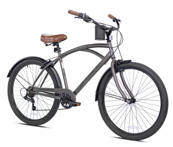 26quot; Men#x27;s Kent Bayside 7 Speed Bicycle Shimano Steel Frame Hot Rod Cruiser $147.86