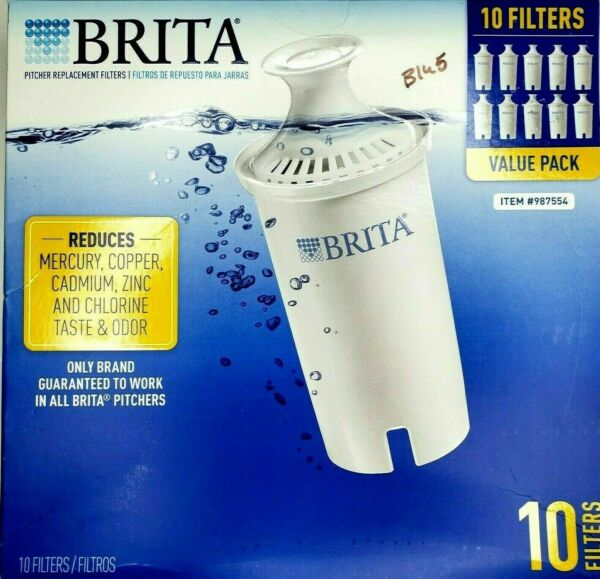 Brita Pitcher Replacement Water Filters 10 Value Pack 2 Sealed Boxes Model OB03