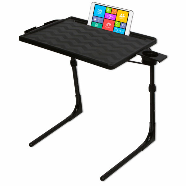 Table Mate II PRO Folding Desk TV Tray Portable Laptop Table Black