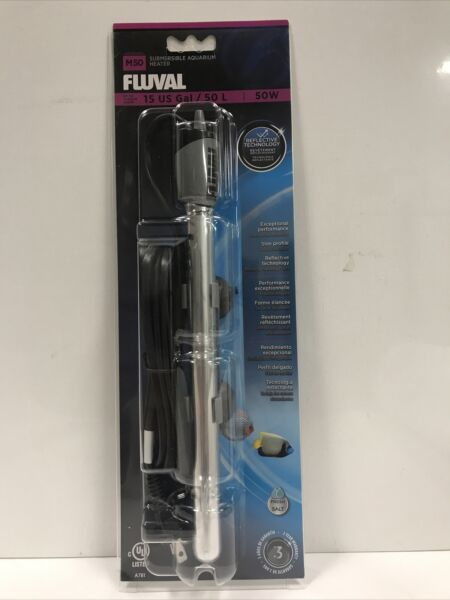 FLUVAL M50 SUBMERSIBLE GLASS AQUARIUM HEATER 50 WATT HAGEN A 781 $18.00
