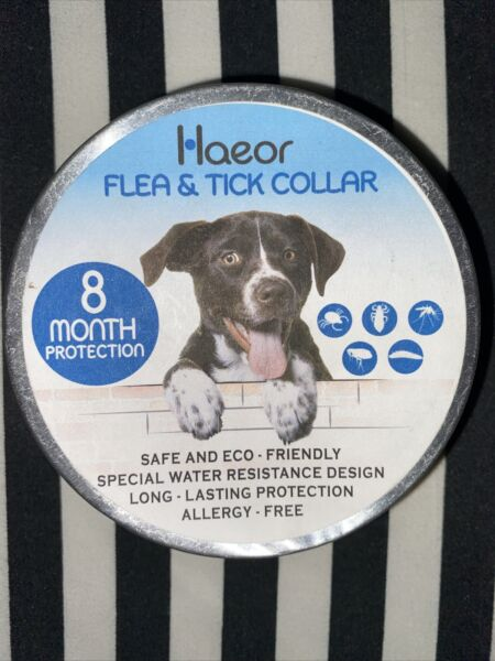 Haeor Dog Flea amp; Tick Collar 8 month protection Eco Allergy Natural Oils 1 Size $9.99