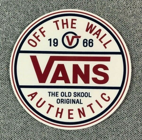 VANS Off The Wall Vans AUTHENTIC Since 1966 Skateboard Sticker 2.7quot; $4.95