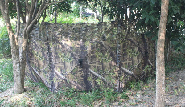 Green Leave Pop Up Ground Camo Blind Deer Duck Turkey Hunting Portable 2 Person