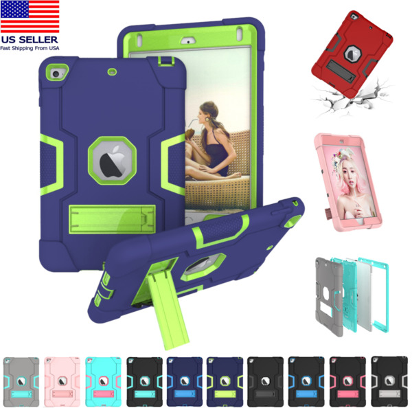 Shockproof Heavy Duty Hard Case Stand Cover for iPad 7th Gen Air Mini 1 2 3 4 5 $11.85