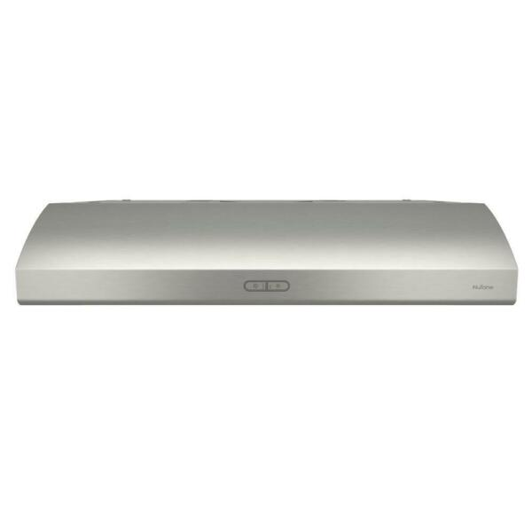 Osmos Deluxe Convertible Range Hood Light Under Cabinet 36quot; Stainless 300 CFM