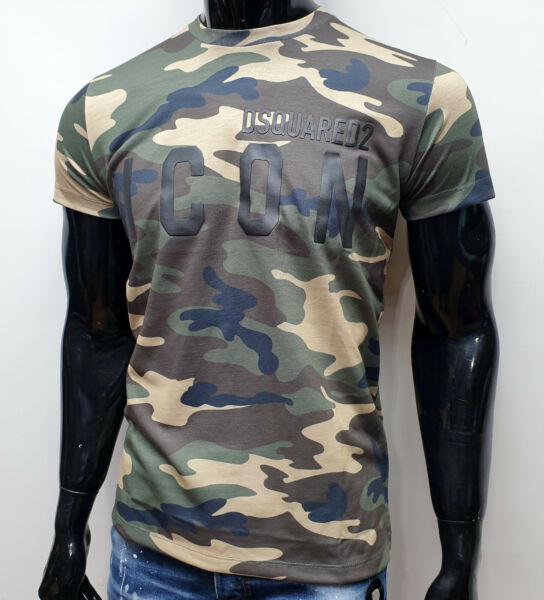 DSQUARED2 MILITARY T shirt ICON green man fashionable new all sizes $44.00