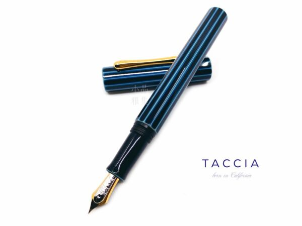 Taccia LE Collection Polygon Ebonite Maki e 14K Fountain Pen