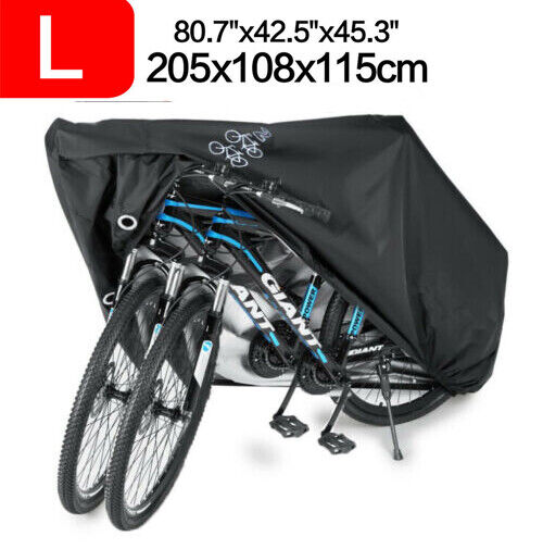 For 3 Bike Bicycle Cover Cycle Outdoor Storage Waterproof Dust Rain UV Protector $15.89