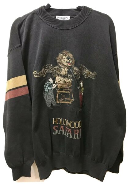 Vintage ICEBERG Sweater Hollywood Safari XxL Made In Italy $105.00
