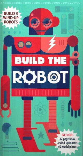 Robot Build Own Models amp; Book 62 Pieces 3 Windup Motors Fun While Learning New