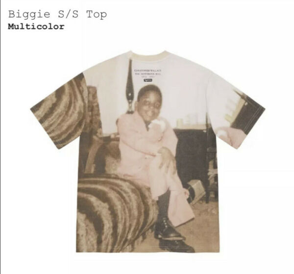 Supreme Biggie Smalls S S Tee New Size Large SOLD OUT Confirmed Order $199.00