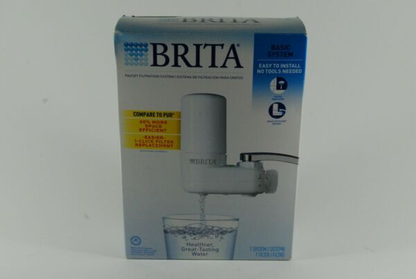 Brita Basic Water Faucet Filtration System SAFF 100 Pre owned