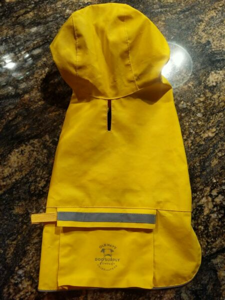 OLD NAVY DOG SUPPLY XS RAINCOAT JACKET YELLOW TRIED AND TRUE $12.99