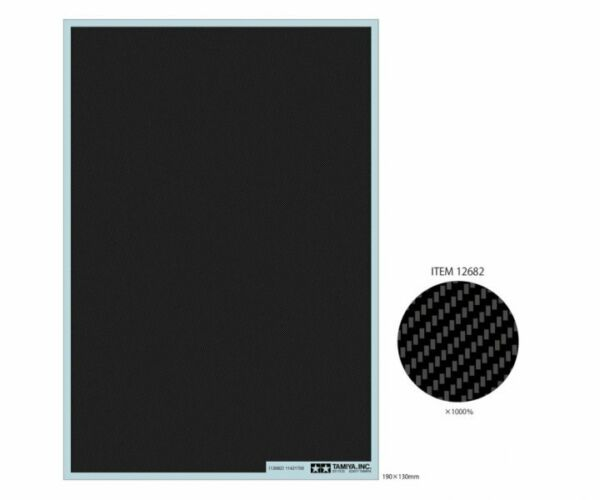 Tamiya 12682 Carbon Pattern Decal Twill Weave Extra Fine For 1 12 1 24 Model Car $6.50