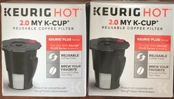NEW Keurig HOT 2.0 MY K CUP Reusable Coffee Filters Plus Series 2 pack