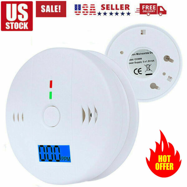 First Alarm CO LCD Carbon Monoxide Detector Gas Audio Warning Alerting Security $10.99