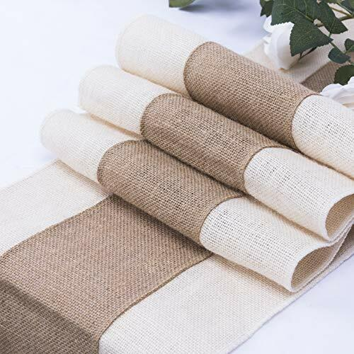 Burlap Table Runner Farmhouse Style 108 inches Long 12quot; Wide Natural Jute Table