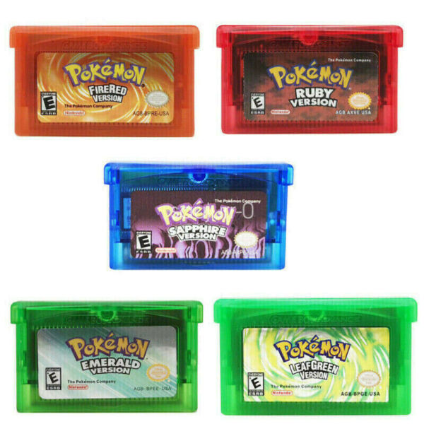 Pokemon Sapphire Fire Red Leaf Green Emerald Ruby Version Gameboy Advance US GBA