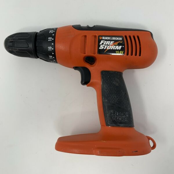 Black amp; Decker Fire Storm 15.6 Volt Drill FS1560 BARE TOOL no battery