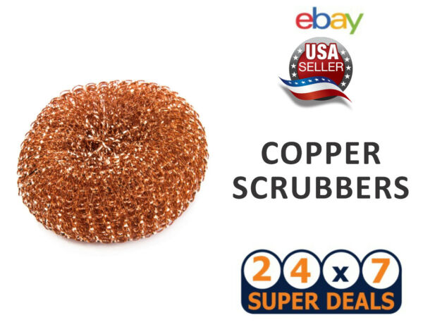 CHORE BOY COPPER SCRUBBER Pad 100 % COPPER For Pots Pans Stoves New Steel Wool