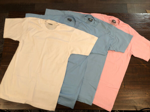 Vintage Screen Stars Best Tshirt Plain Solid Blank Size M Made In USA lot of 4