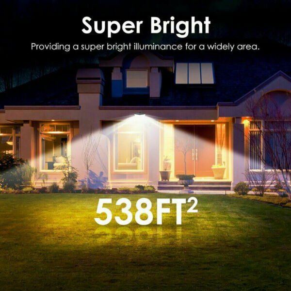Waterproof 100 LED Solar Powered Light Outdoor PIR Motion Sensor Garden Security $18.97