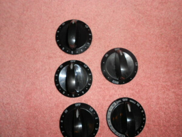 316442401 316442404 316482410 Kenmore Black Oven Knobs