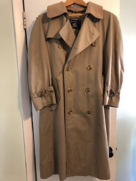 Vintage Burberry Men's Double Breasted Classic Trench Coat Size 36 Regular $150.00