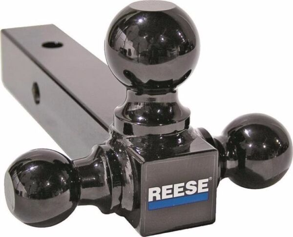 NEW REESE TOWPOWER 21512 TRAILER HITCH TRI BALL BLACK 8quot; 3 IN 1 SALE 4540399 $26.99