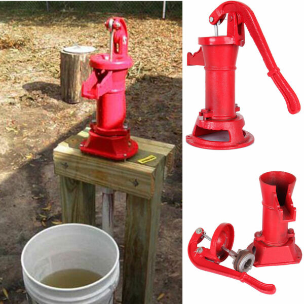 Hand Water Shallow Well Pump Pitcher Cast Iron Press Suction Yard 25ft Outdoor $48.98