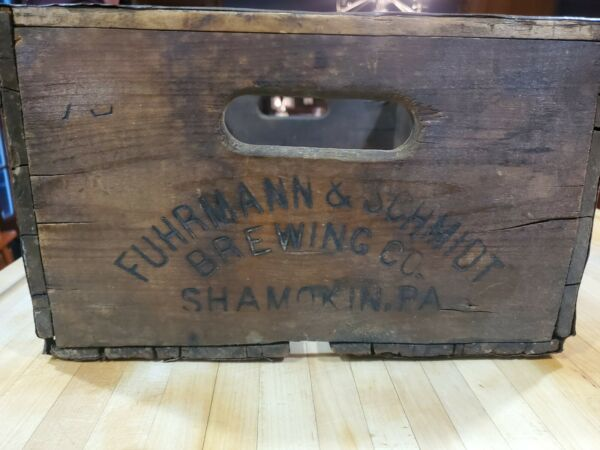 F amp; S Brewing Co Wooden Beer Crate Shamokin PA
