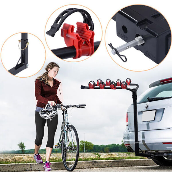 4 Bicycle Bike Rack 1 1 4quot; 2quot; Hitch Mount Carrier Car Truck AUTO SUV Swing US $44.09
