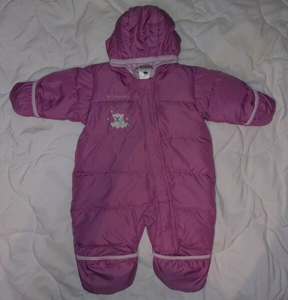 Baby Columbia Bunting Snowsuit Size 12 Months